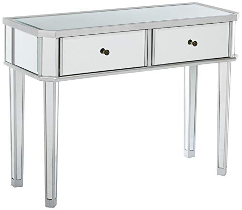 Powell 233-225 Mirrored Silver Wood Console
