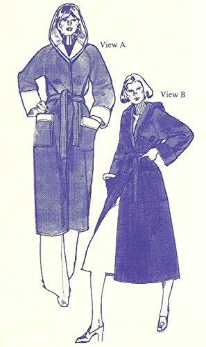 Stretch & Sew vintage sewing pattern 1082 hooded knit coat - Size S-XL