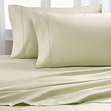 Hotel Collection- #1 Best Seller Luxury Sheets on Amazon! Lowest Prices Guaranteed - Blockbuster Sale: Luxury 600 Thread count Cotton Rich Wrinkle Resistant Ultra Soft Sheet Set, Queen - Sage