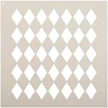 "Medium Diamonds Stencil by StudioR12 | Simple Repeating Pattern - Reusable Mylar Template | Painting, Chalk, Mixed Media | Use for Crafting, DIY Home Decor - STCL630 (6"" x 6"")"