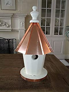 product image for Single Hole Bird House with Copper top Amish Made in USA Pole Mounted 20 inches Tall