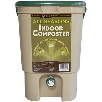 scd probiotics b100 all seasons indoor composter 1 tan bucket