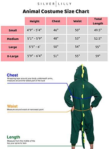 4c0a83239a Silver Lilly Unisex Adult Pajamas - Plush One Piece Cosplay Animal Dinosaur  Costume (Dinosaur