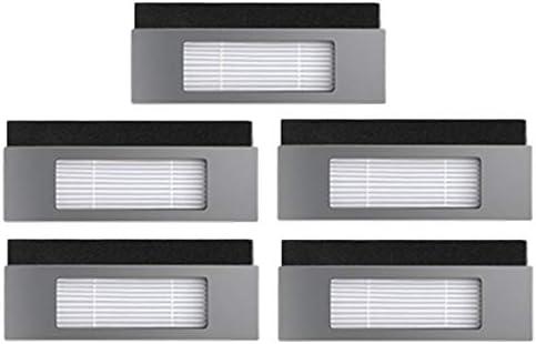 BLUELIRR 5 filtros de repuesto para robot aspirador Ecovacs Deebot ...