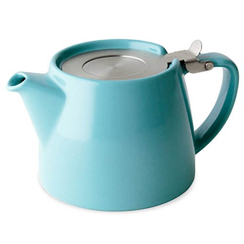 FORLIFE Stump Teapot with SLS Lid and Infuser, 18-Ounce, Turquoise
