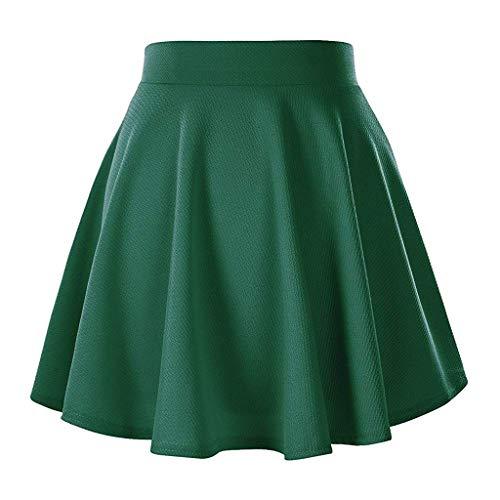 - Yxiudeyyr Women's Stretch High Waist A Line Pleated Flared Schoolgirls Mini Ball Gown Skirt Green