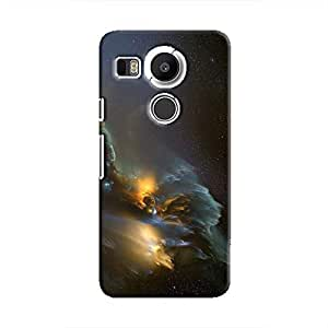 Cover It Up - Gold and Silver space Cloud Nexus 5X Hard case