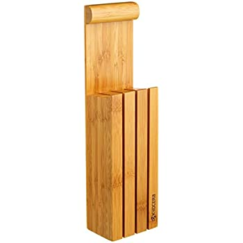 Amazon Com Kyocera Kblock3 Bamboo 3 Slot Knife Block