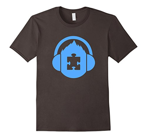 Men's Autism Awareness Puzzle Piece T-Shirt Large Asphalt