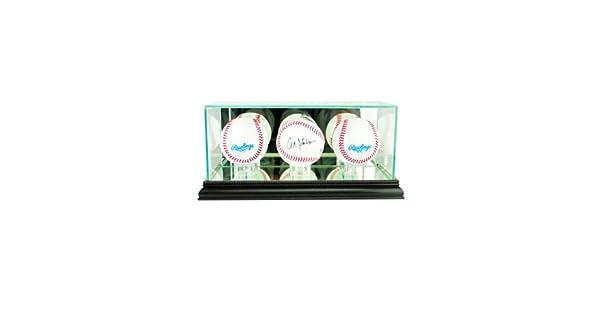 Amazon.com: MLB Triple Béisbol vidrio Display Case, negro ...