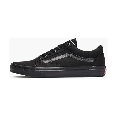 Vans Old Skool Skate Shoes Black/Black, Men's 9.5 Women's