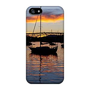 New AlikonAdama Super Strong Lake On Evening Cases Covers For Iphone 5/5s
