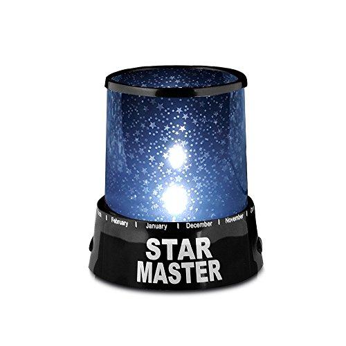 REDLEMON Lampara Proyector de Estrellas de Luz LED, Estrellas en el Cuarto de los Niños. Negro