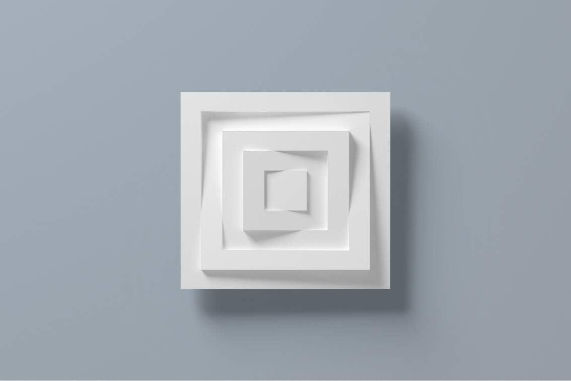 1 Rosette D/écorative D/écoration Mur Dur Polystyr/ène 30x30cm DR22