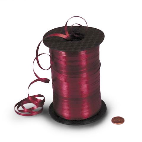 Burgundy Crimped Curling Ribbon 3/16