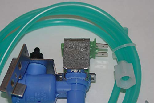 Refrigerator Single Solenoid Ice Maker Water Valve & Water line Fits GE Hotpoint