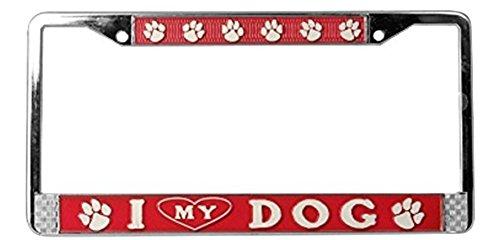 Mitchell Proffitt I Heart My Dog License Plate Frame
