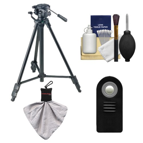 Sony VCT-R640 61'' Photo/Video Tripod with 2-Way Pan & Tilt Head (Black) with Remote + Accessory Kit for A58, A65, A77 DSLR Camera by Sony