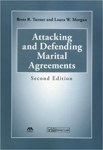 Attacking And Defending Marital Agreements Brett R Turner Laura W