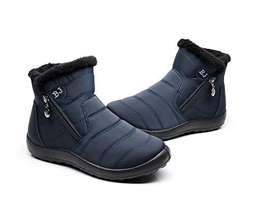 Bottes La Pour Neige Bottines Chaudes Déales Cheville Pluie Bleu Imperméable Neige Fourrure Eagsouni Boots Femme Hiver 7qcawt54