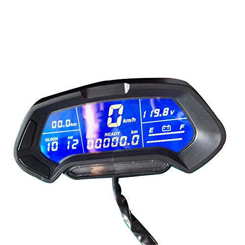 QSMOTOR Electric Motorcycle Speedometer MPH CT-22 48v-144v Universal Digital Programmable Display