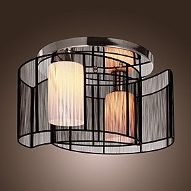 LightInTheBox Black Semi Flush Mount With 2 Lights Mini Style Chandeliers Modern Ceiling Light Fixture For Hallway Dining Room Living
