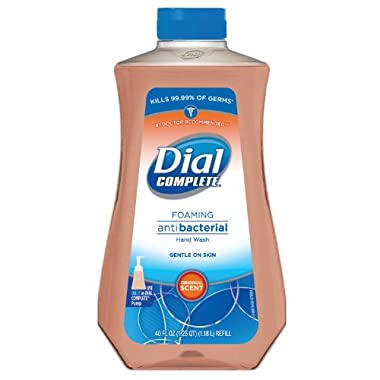 Dial Complete 1571612 Original Antimicrobial Foaming Hand Soap, 40oz Refill (Pack of 6)