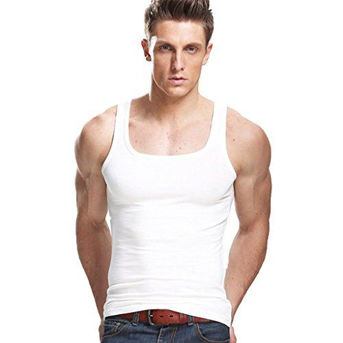 XDIAN Men's Tank Top Medium White