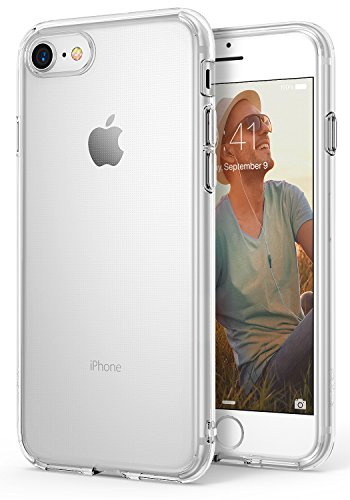 Ringke Air Compatible with iPhone 7, iPhone 8 Phone Case Weightless as Air, Extreme Lightweight & Thin Transparent Soft Flexible TPU Scratch Resistant Protective Cover - Clear