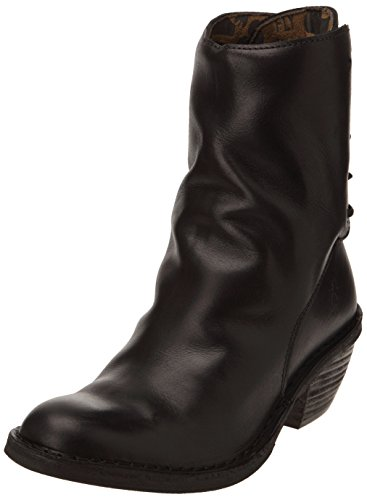 Fly London Women's Roaf Western Boot - Black Rug - 37 M E...