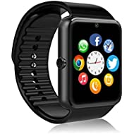 MSRMUS Smart Watch Compatible for Iphone 5s/6/6s/7/7s and Android 4.3 above, Anti Lost and...