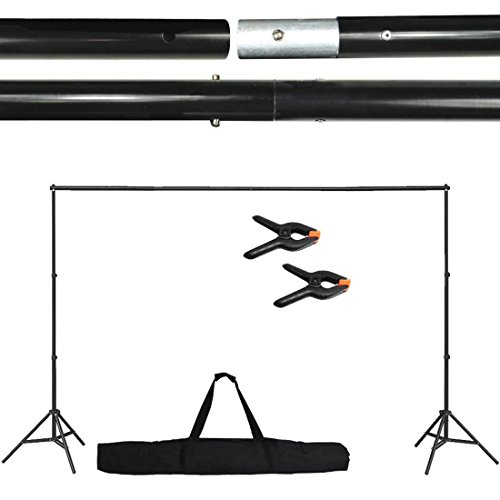 10Ft Adjustable Background Support Stand Photo Backdrop Crossbar Kit Photography (Bay Plaza Mall Stores)