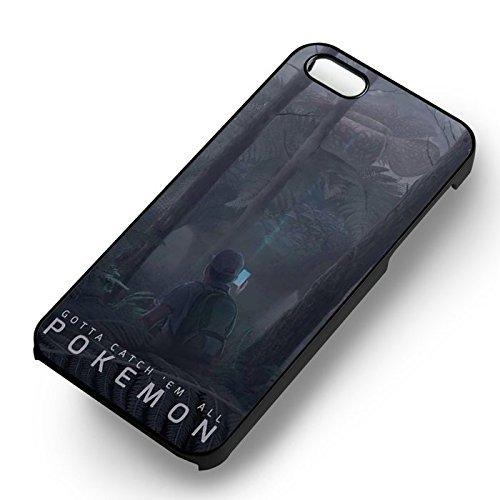 Pokemon Gotta Catch 'em All pour Coque Iphone 6 et Coque Iphone 6s Case (Noir Boîtier en plastique dur) Y1W5AC