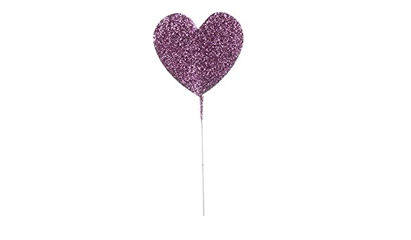 Factory Direct Craft Package of 12 Purple Glittered Star Floral Picks