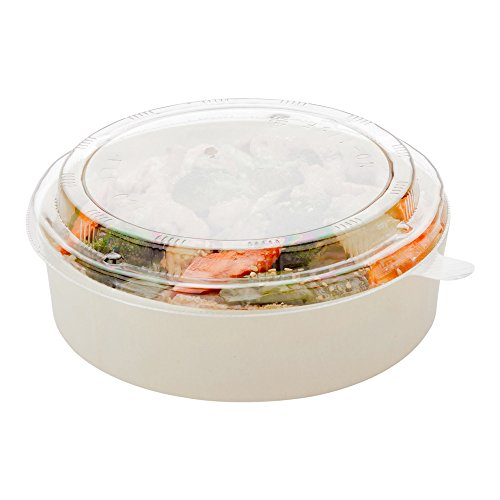 Deep Round Container (Round Disposable Wood Food Tray Lid, Deep Round Container Lid - 6