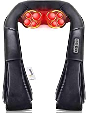 VIKTOR JURGEN Shiatsu Back and Shoulder Massager with Deep Tissue Kneading Massage and Heat for Foot/Neck/Shoulder/Back Pain - Relieves Sore Muscles - Full Body Massage