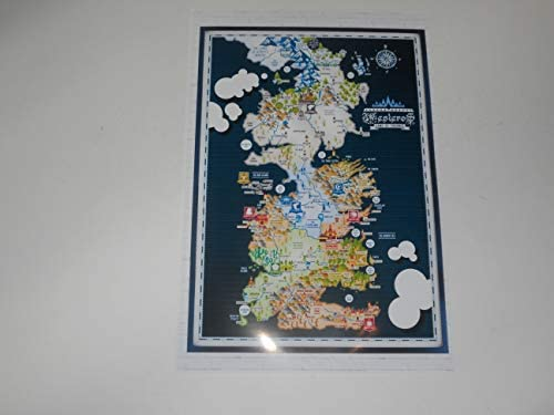 Amazon.com: CV Large Game of Thrones Westeros Map #2 Poster ... on spooksville map, downton abbey map, narnia map, bloodline map, got map, justified map, jericho map, qarth map, camelot map, walking dead map, a storm of swords map, gendry map, world map, star trek map, guild wars 2 map, clash of kings map, dallas map, valyria map, winterfell map, jersey shore map,