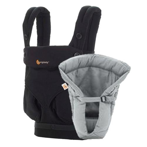 ergobaby Bundle of Joy Four Position 360 Carrier, Black with Grey Insert