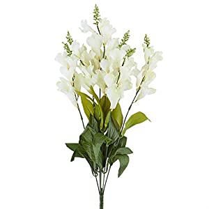 Factory Direct Craft Tall Artificial Snapdragon Floral Bush for Indoor Decorating and Arranging 12