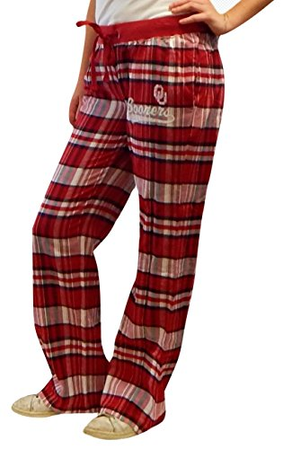 Creative Apparel NCAA Oklahoma Sooners Plaid Pajama Lounge Sleep Pants (X-Large, Red Sooners) (Lounge Sooners Pajama Pants)