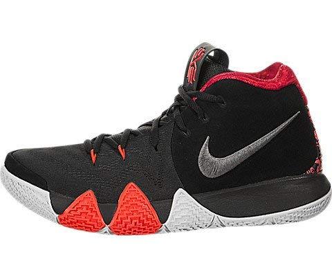 purchase cheap 0303f efbff Nike Men's Kyrie 4 Basketball Shoe (10.5, Black/Red/Grey)