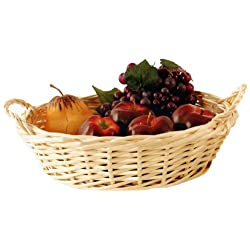 Wald Imports 12-Inch Bleached Willow Basket