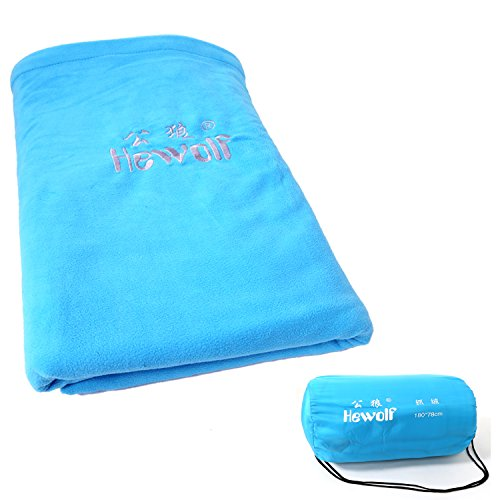 Hewolf Outdoor Portable Ultra Light Single Camping Fleece Sleeping Bag Liner 70 * 30 Inches (blue) Review