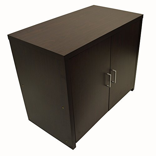 HIDEAWAY - Sideboard Office Computer Storage Desk - Dark Oak by WATSONS by WATSONS