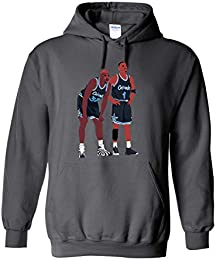 Grey Orlando Shaq Penny Pic Hooded Sweatshirt