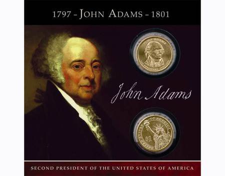 2007 JOHN ADAMS Coins of America $1 Dollar both P and D Uncirculated ()