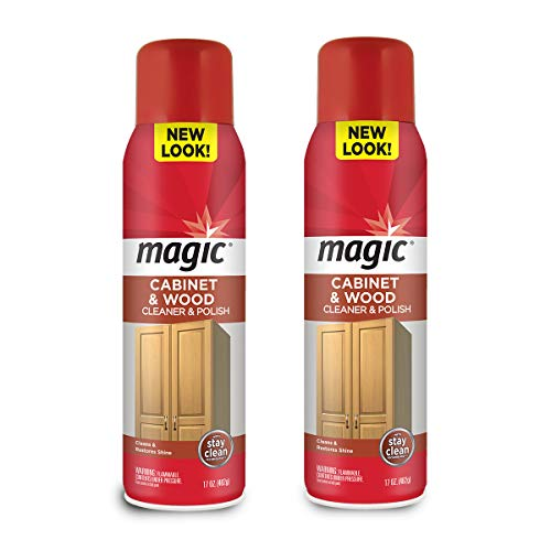 Magic Wood Deep Cleaner and Polish - 17 Ounce [2 Pack] - Heavy Use Wood Furniture Cabinet Table Chair Natural Brazilian Carnauba Wax and Oil - Streak Free by Magic (Image #5)