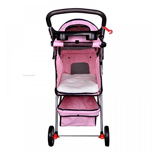 Bestpet New Pet Stroller Cat Dog Cage 3 Wheels Stroller