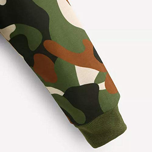 Jumper Women Camouflage Sweatshirt Pullover Blouse Print Tops Hoodie Morwind Long Sleeve w0qRdOnO47