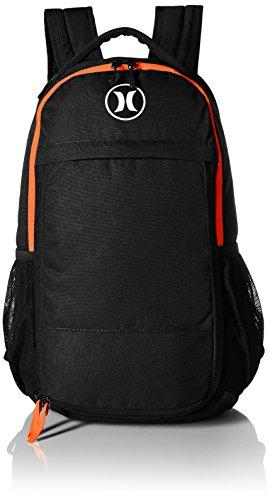 Hurley Men's Fusion Backpack, Black/Total Orange/White, One (Hurley Black Backpack)